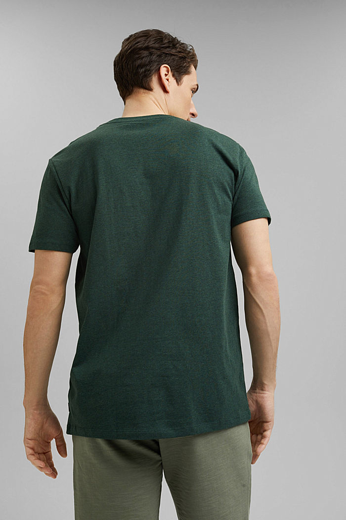 Tričko z žerzeje ze 100% bio bavlny, TEAL BLUE, detail image number 3