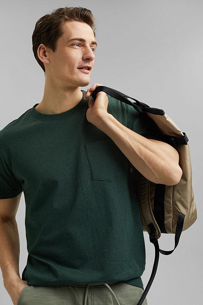 Tričko z žerzeje ze 100% bio bavlny, TEAL BLUE, detail image number 4