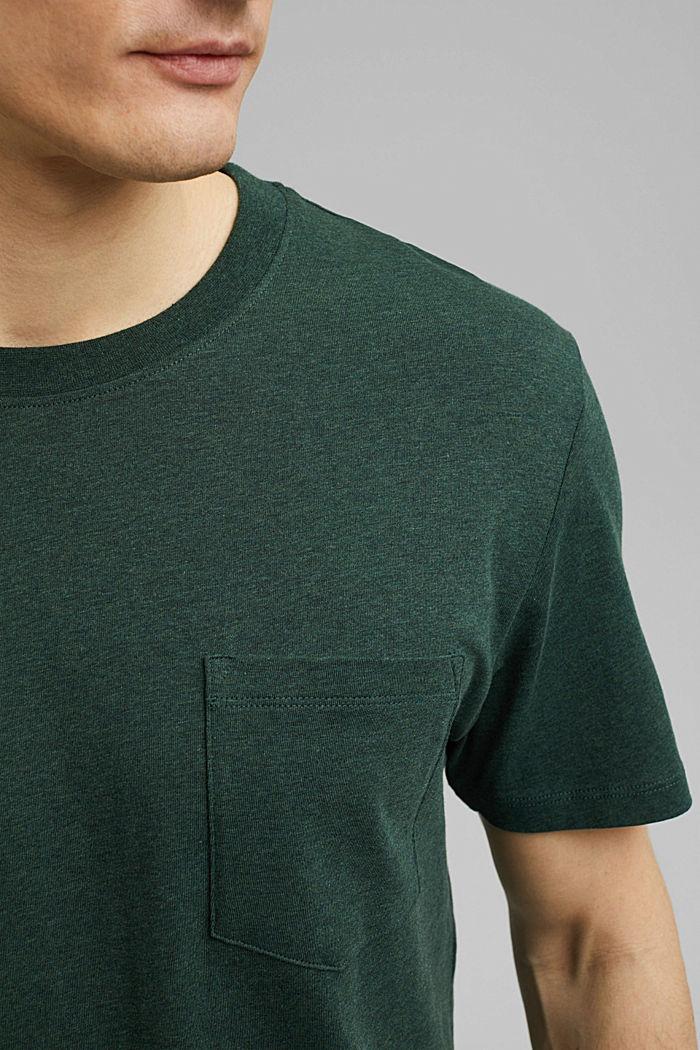 Tričko z žerzeje ze 100% bio bavlny, TEAL BLUE, detail image number 1