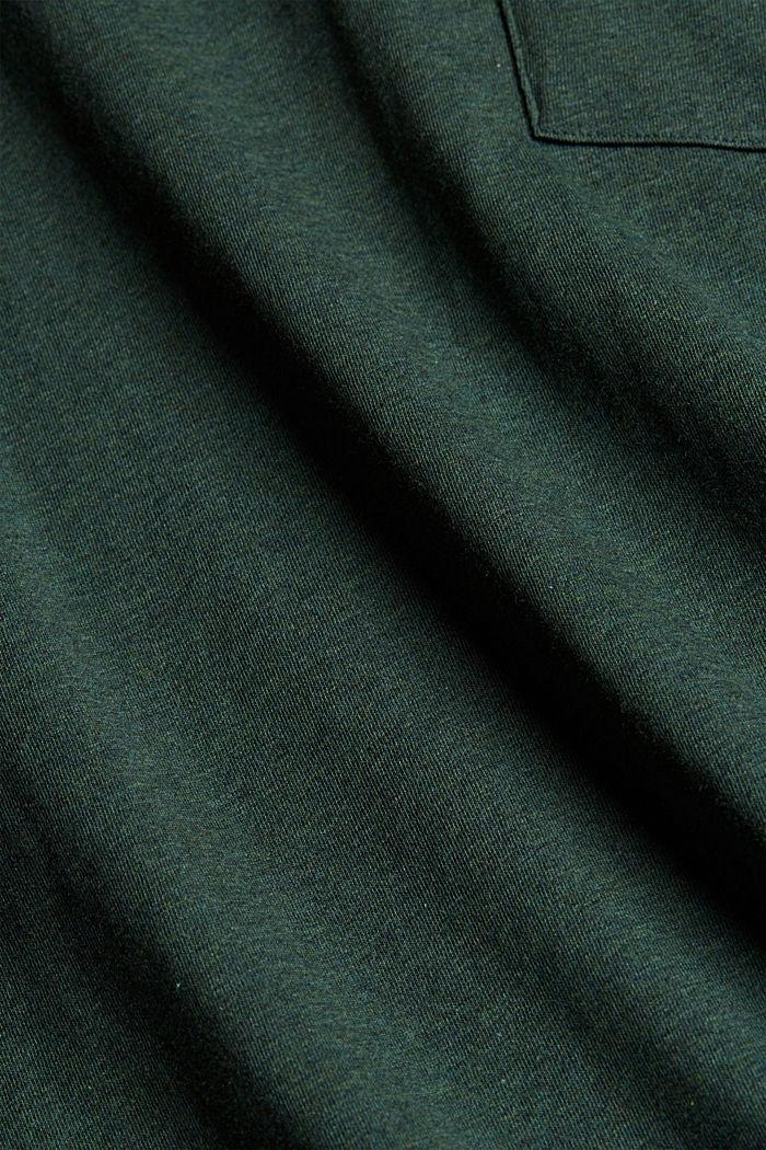 Tričko z žerzeje ze 100% bio bavlny, TEAL BLUE, detail image number 5