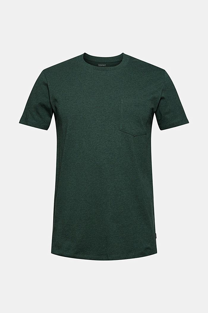 Tričko z žerzeje ze 100% bio bavlny, TEAL BLUE, detail image number 6