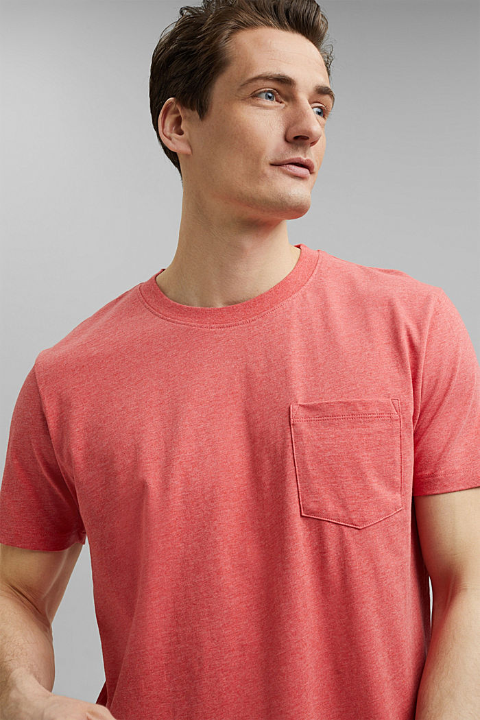 Jersey T-shirt made of 100% organic cotton, CORAL RED, detail image number 5