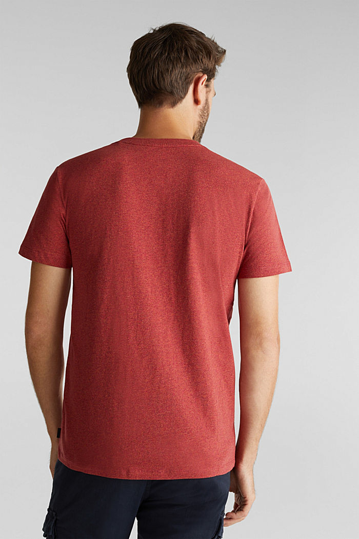 Jersey-T-Shirt aus 100% Organic Cotton, TERRACOTTA, detail image number 3