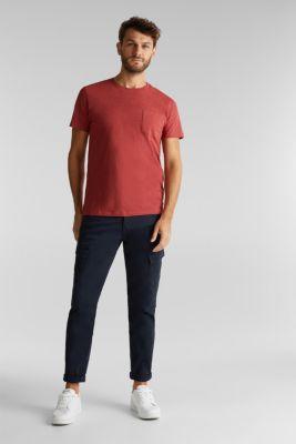 Jersey top in 100% organic cotton, TERRACOTTA, detail