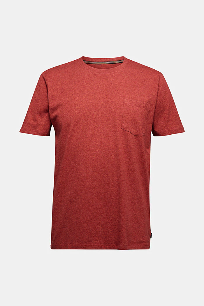 Jersey T-shirt made of 100% organic cotton, TERRACOTTA, detail image number 6