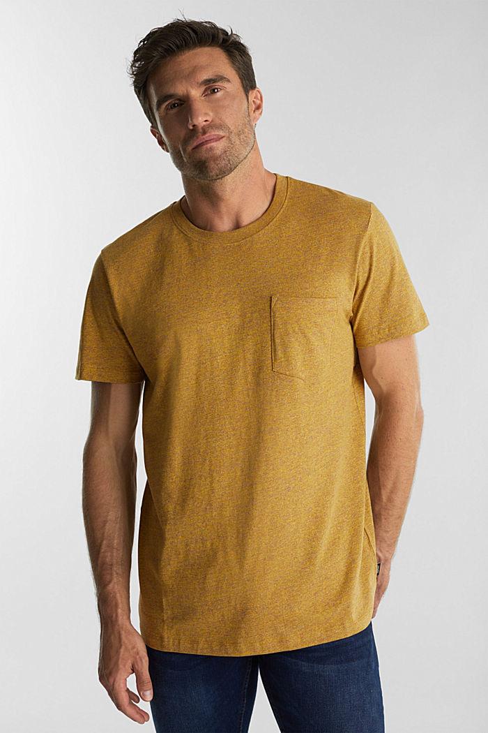 Jersey top in 100% organic cotton, GOLDEN ORANGE, detail image number 0