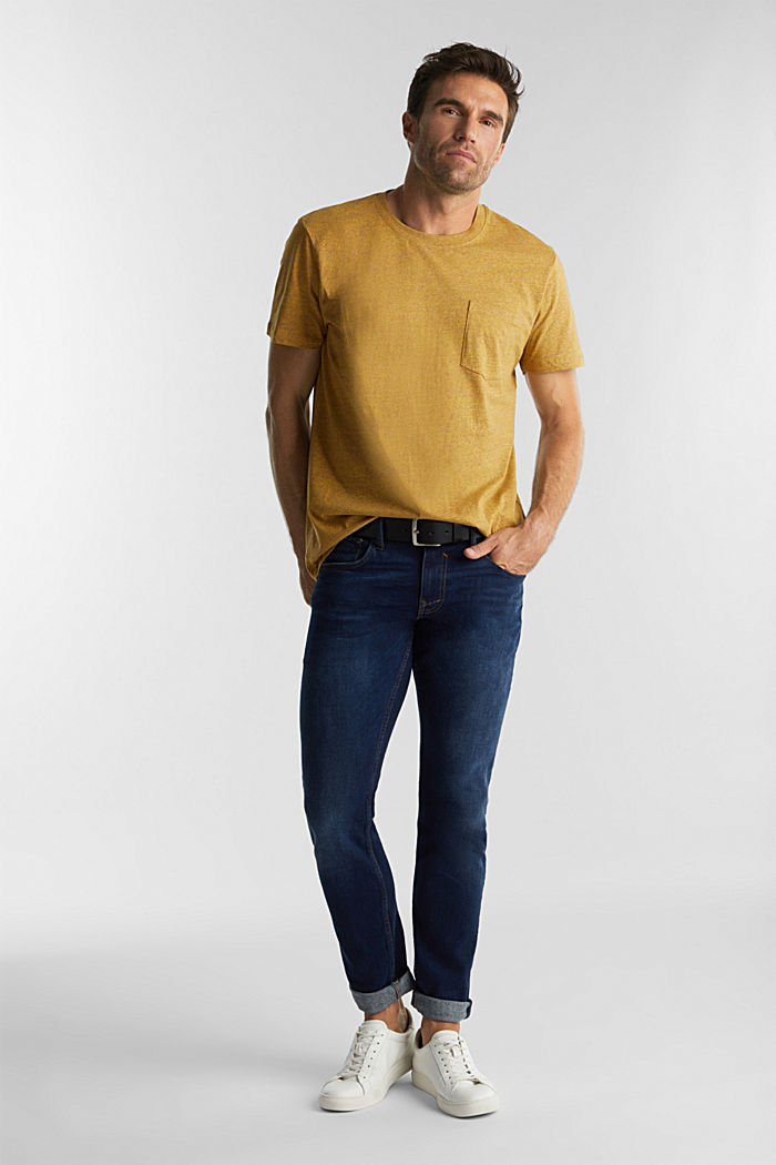 Jersey top in 100% organic cotton, GOLDEN ORANGE, detail image number 2