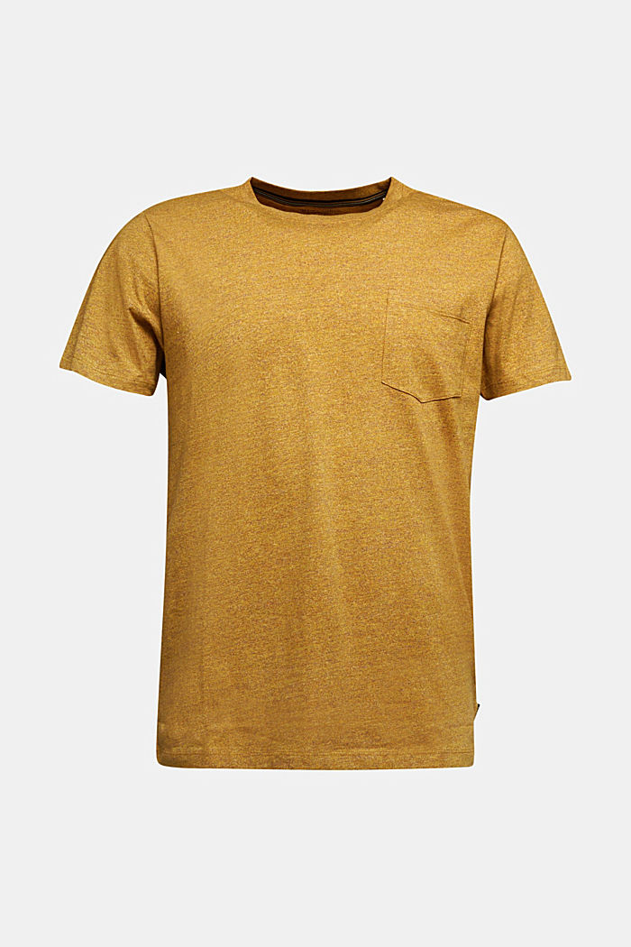 Jersey top in 100% organic cotton, GOLDEN ORANGE, overview