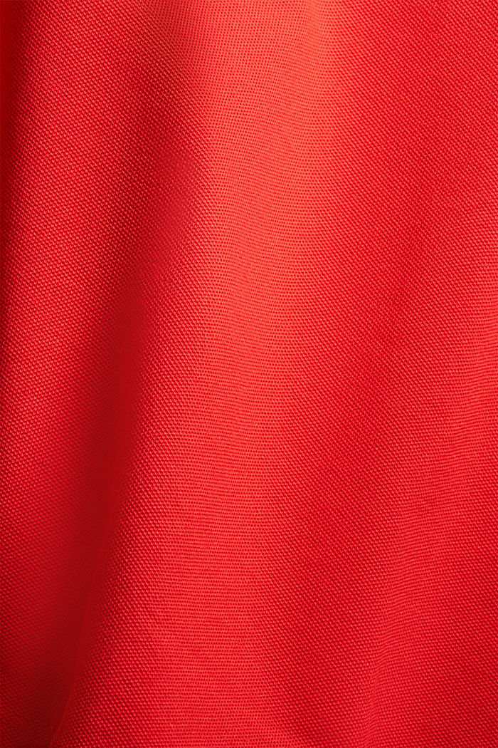 Piqué polo shirt made of stretchy organic cotton, RED, detail image number 1