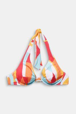 Unpadded flexible underwire bikini top, DUSTY YELLOW, detail