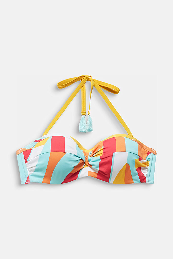 Padded bandeau top with print