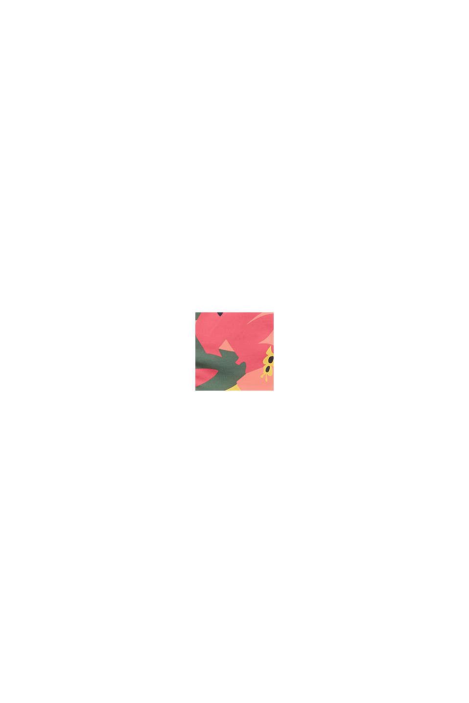 Recycelt: Slip mit floralem Print, PINK FUCHSIA, swatch