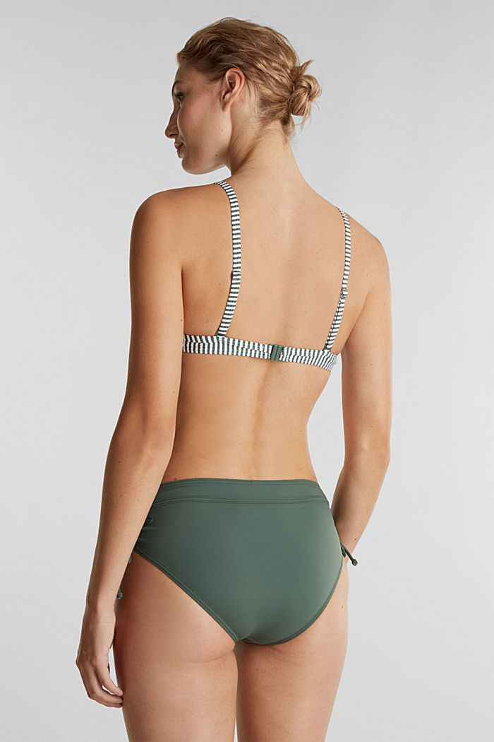 Recycled: padded top with stripes, OLIVE, detail image number 1