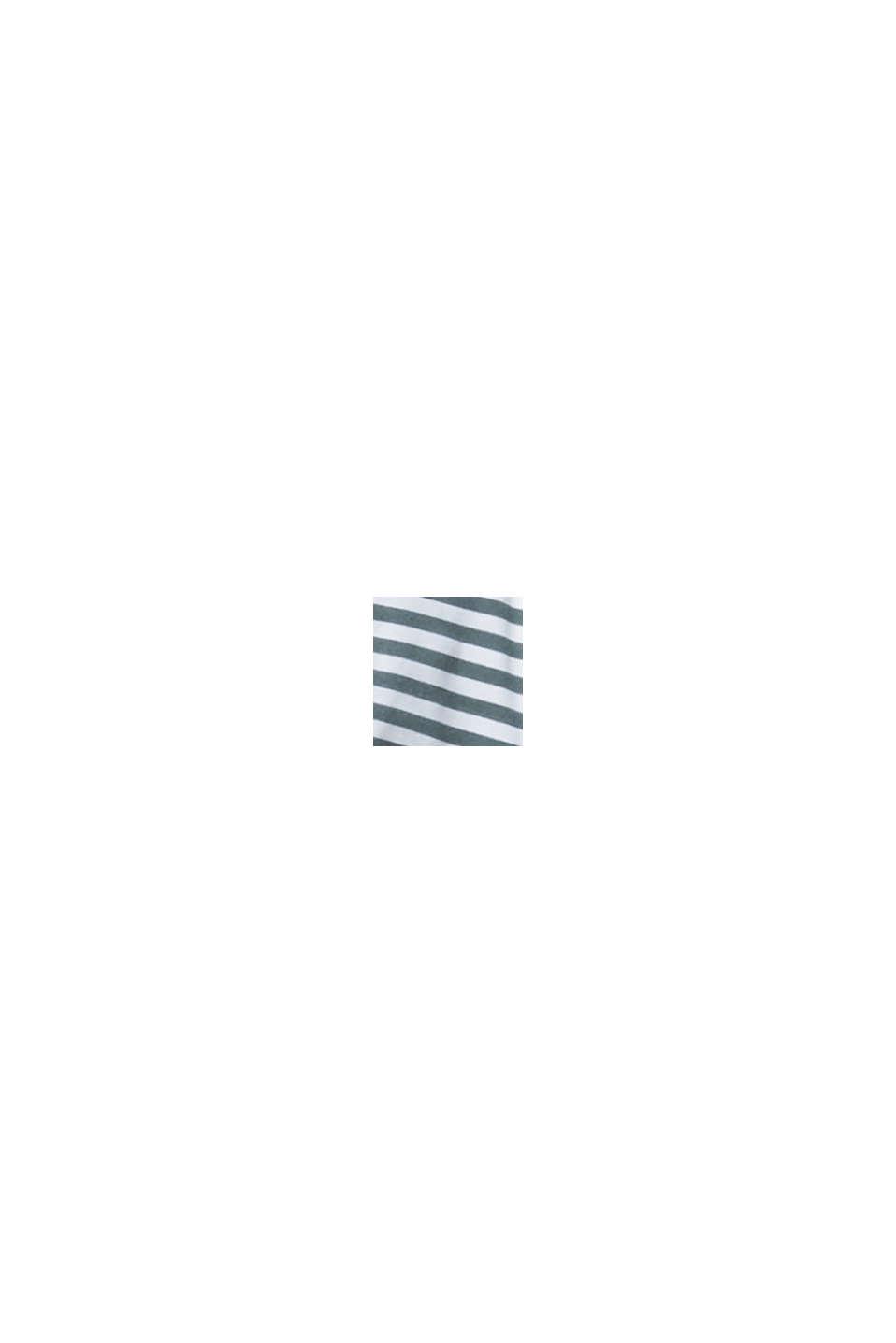 Recycelt: Neckholder-Top mit Streifen, OLIVE, swatch