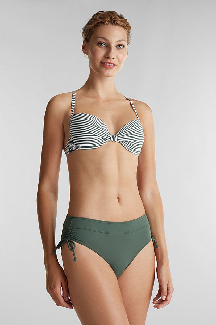 High-waisted briefs with gathering, OLIVE, detail image number 0