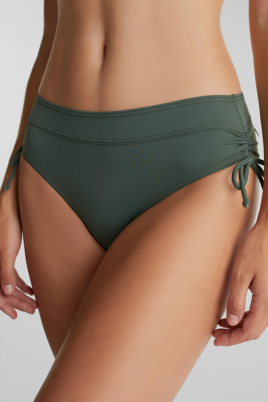 High-waisted briefs with gathering