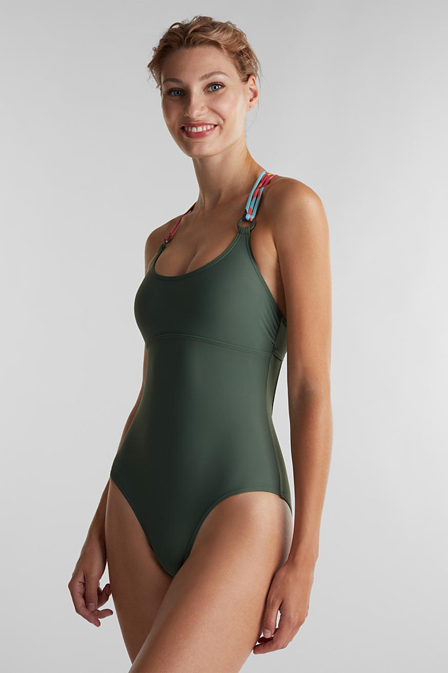 Swimsuit with multi-way straps