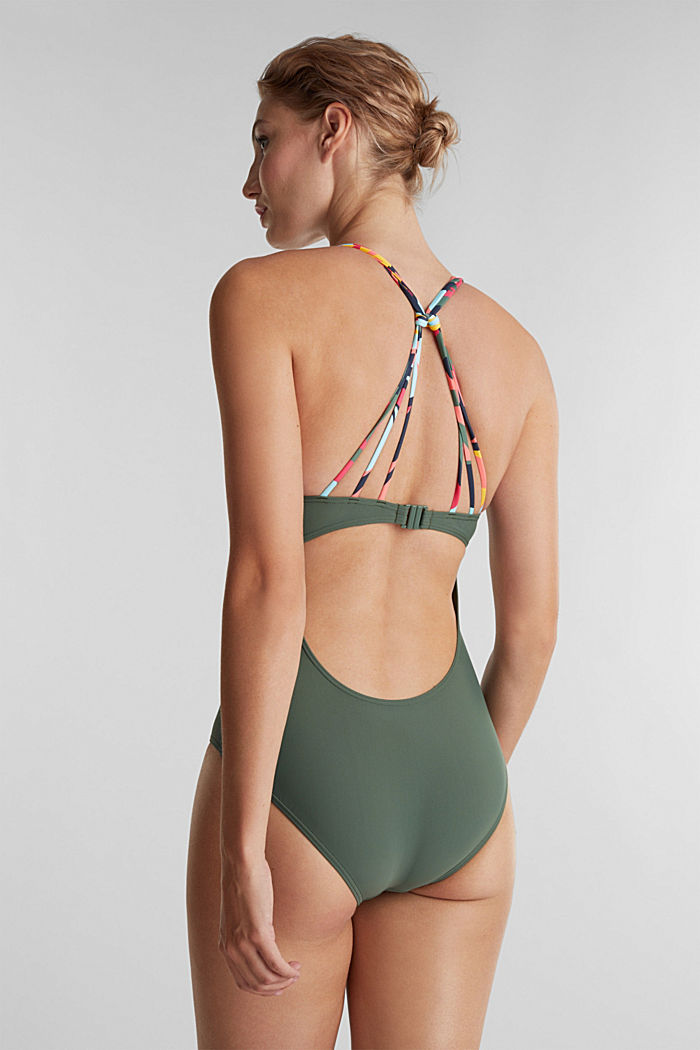 Swimsuit with multi-way straps, OLIVE, detail image number 1