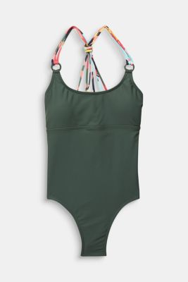Swimsuit with multi-way straps, OLIVE, detail