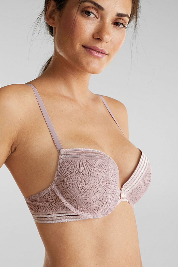 Recycled: push-up bra with lace