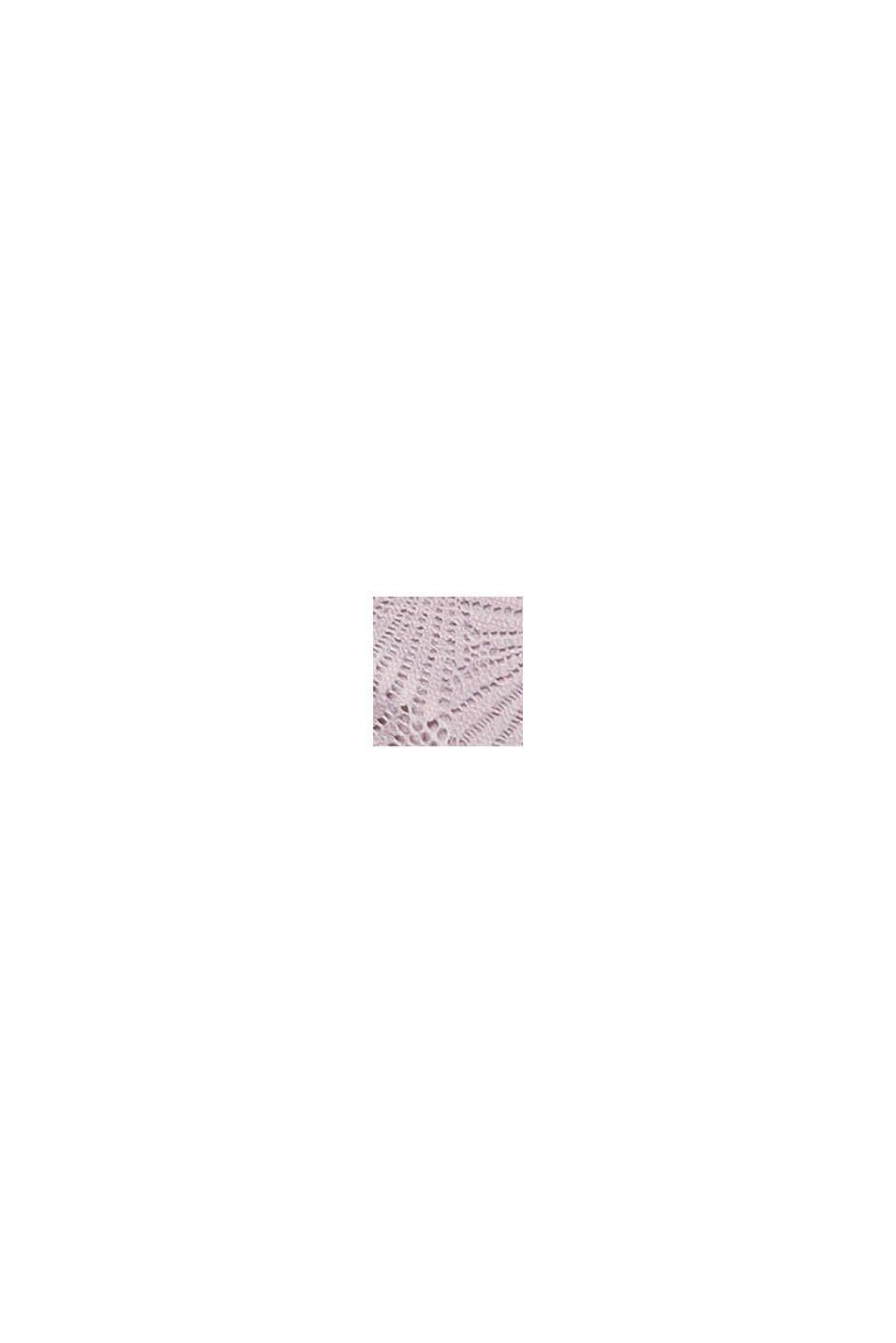 Af genanvendte materialer: vatteret bh med blonder, OLD PINK, swatch