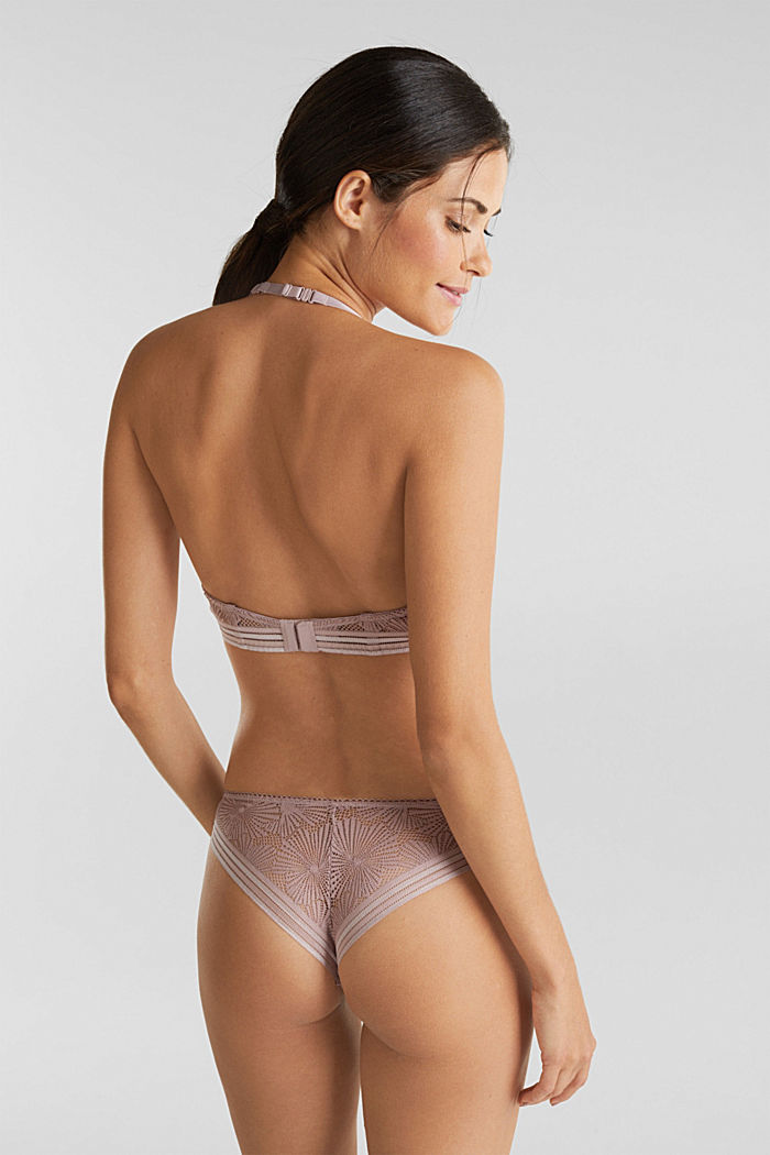 In materiale riciclato: slip con pizzo, OLD PINK, detail image number 2
