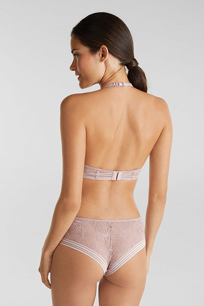 Recycled: Hipster shorts with lace, OLD PINK, detail image number 2