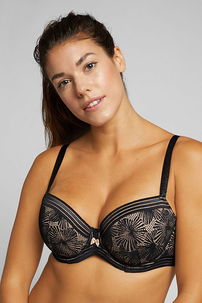 Recycled: Padded bra for larger cup sizes, BLACK, detail image number 5
