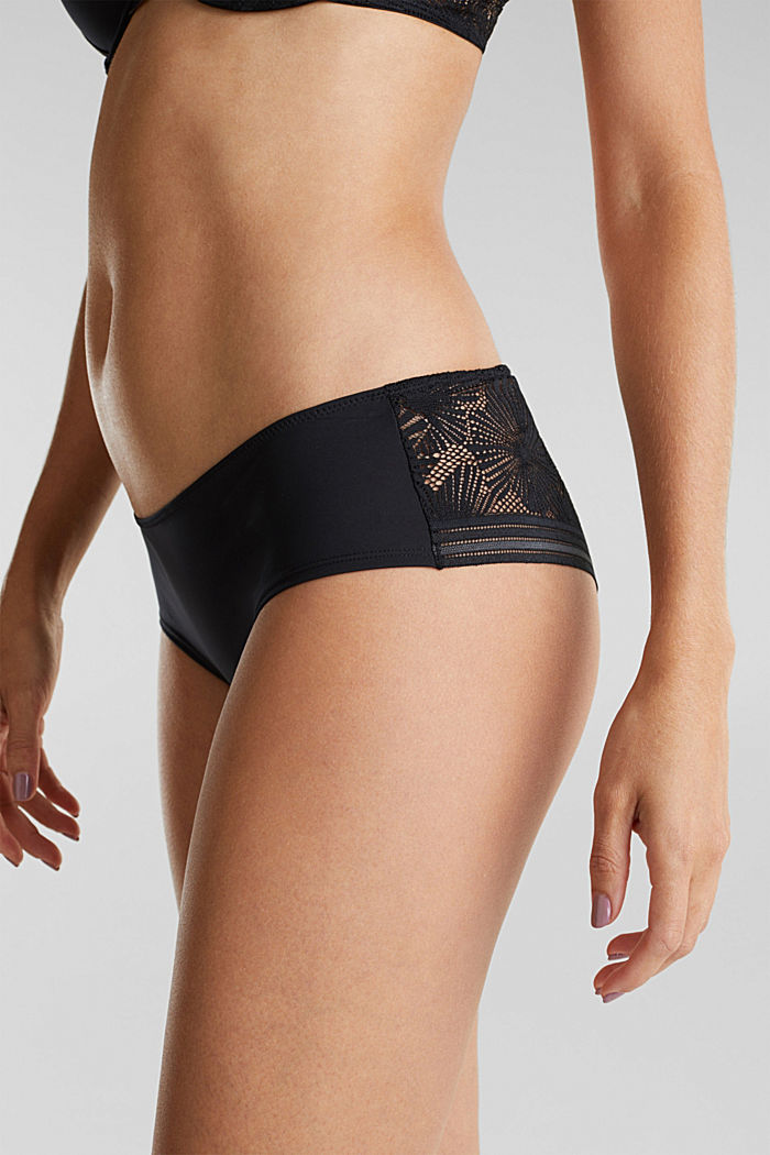 Recycled: 2-pack of hipster shorts, BLACK, detail image number 1