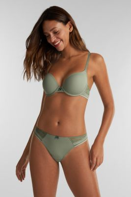Brazilian hipster briefs with lace, LIGHT KHAKI, detail