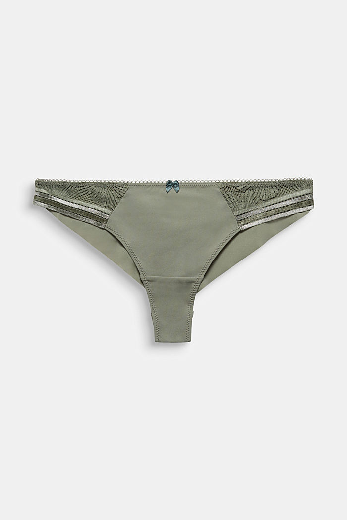 Brazilian hipster briefs with lace, LIGHT KHAKI, detail image number 4