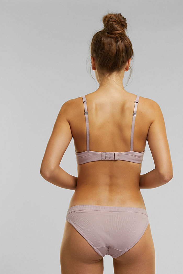 Padded, underwire jersey bra, organic cotton, OLD PINK, detail image number 1