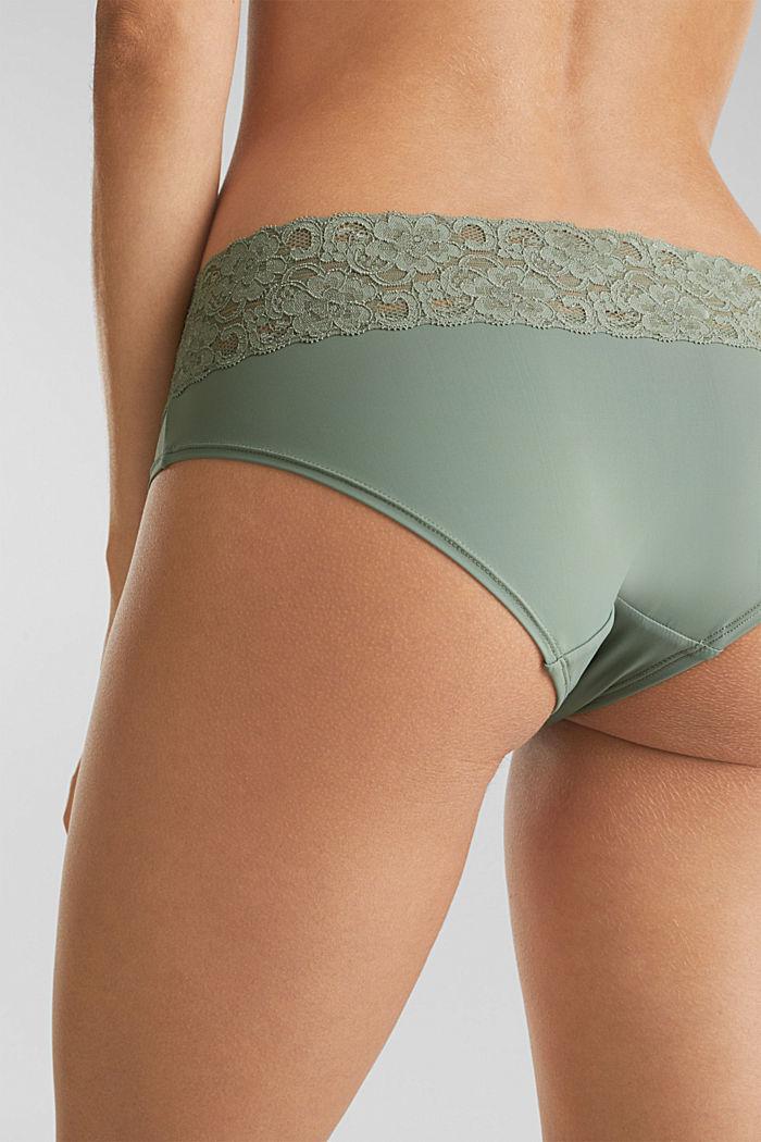Pack de dos culottes cortos con encaje, LIGHT KHAKI, detail image number 2