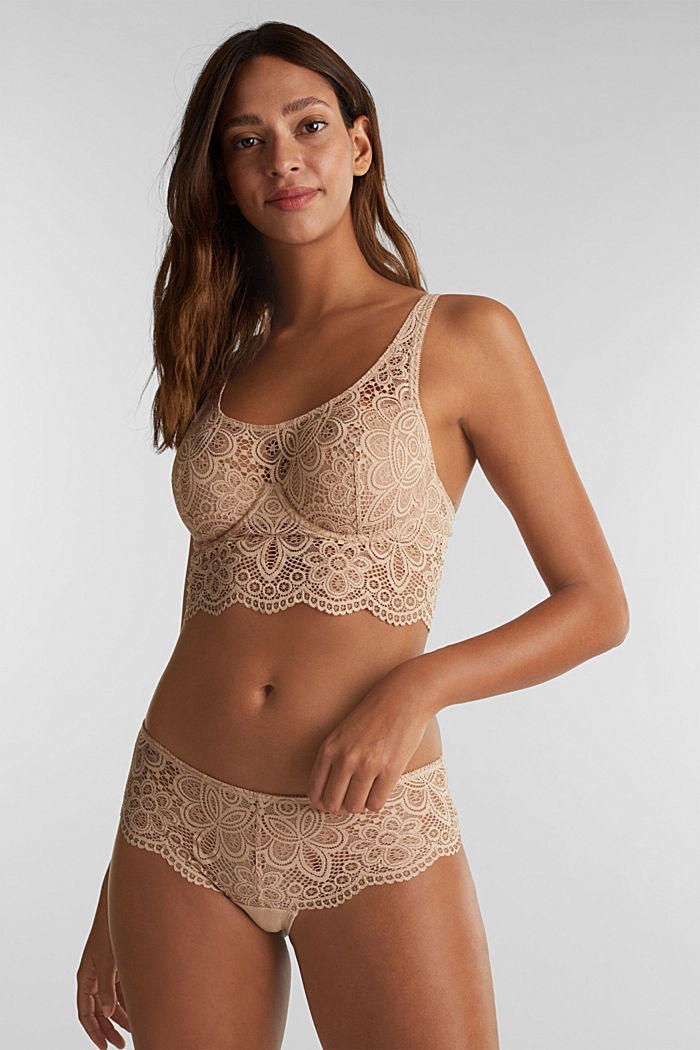 Lace bralet with underwiring