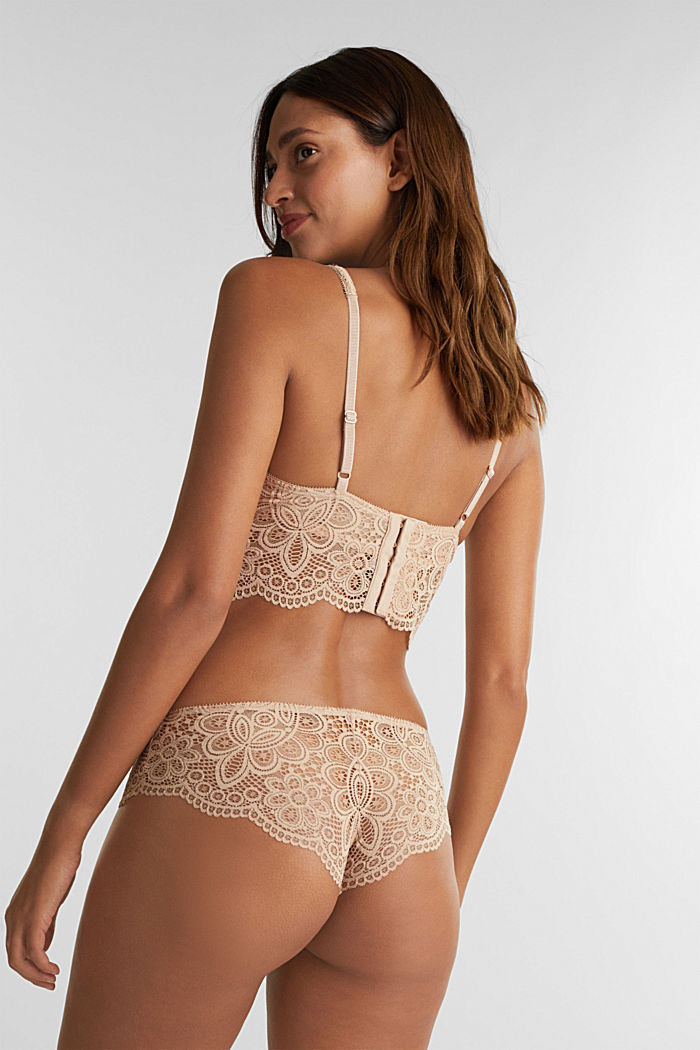 Lace bralet with underwiring, NUDE, detail image number 1