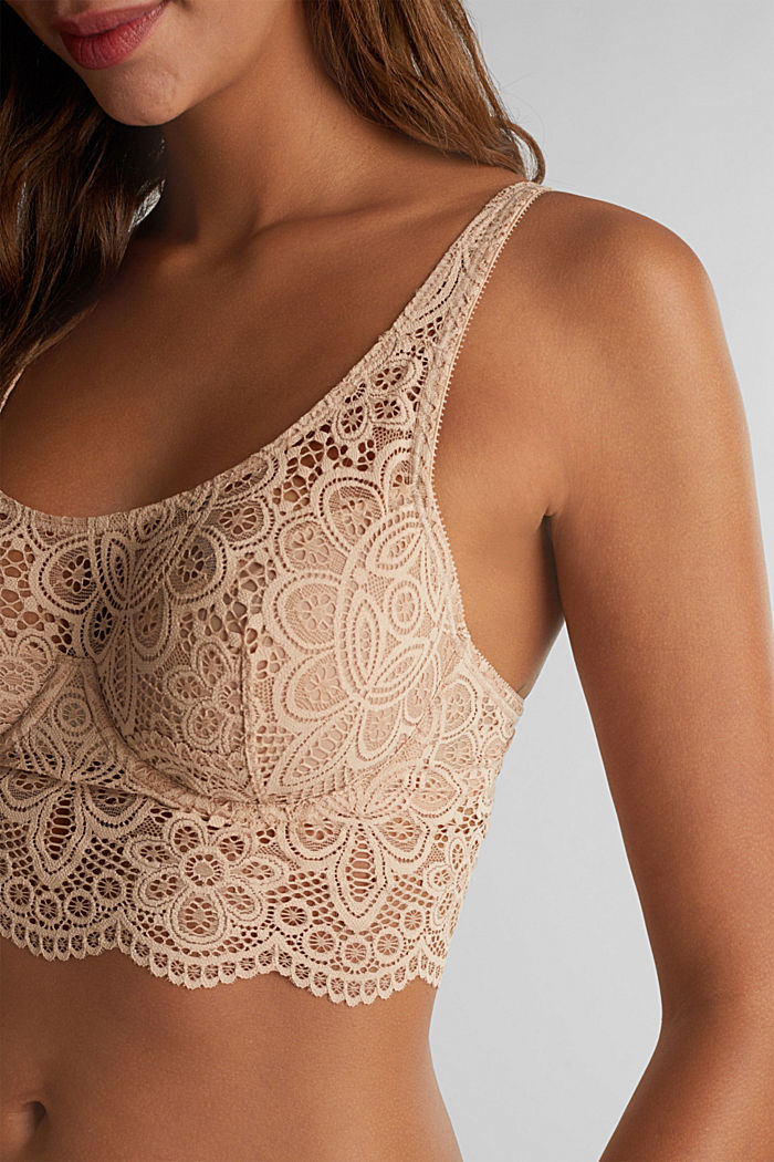 Lace bralet with underwiring, NUDE, detail image number 2