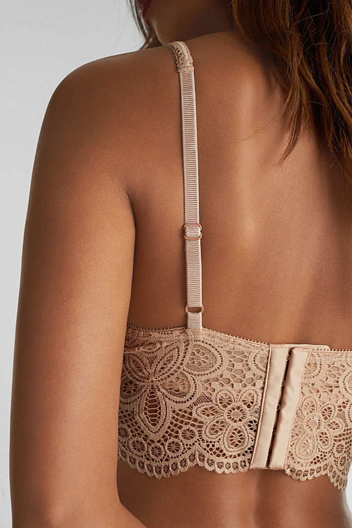 Lace bralet with underwiring, NUDE, detail image number 3