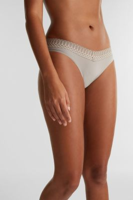 Double pack: hipster briefs with lace, LIGHT TAUPE, detail