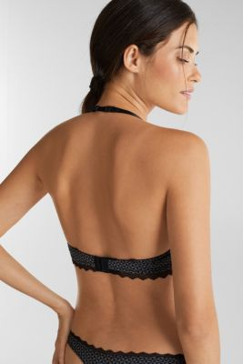 Push-up bra trimmed with lace, BLACK, detail