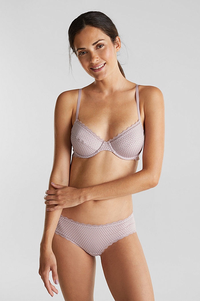 Underwire bra with lace, OLD PINK, detail image number 0