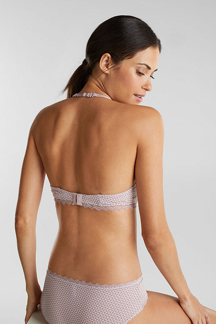 Underwire bra with lace, OLD PINK, detail image number 3