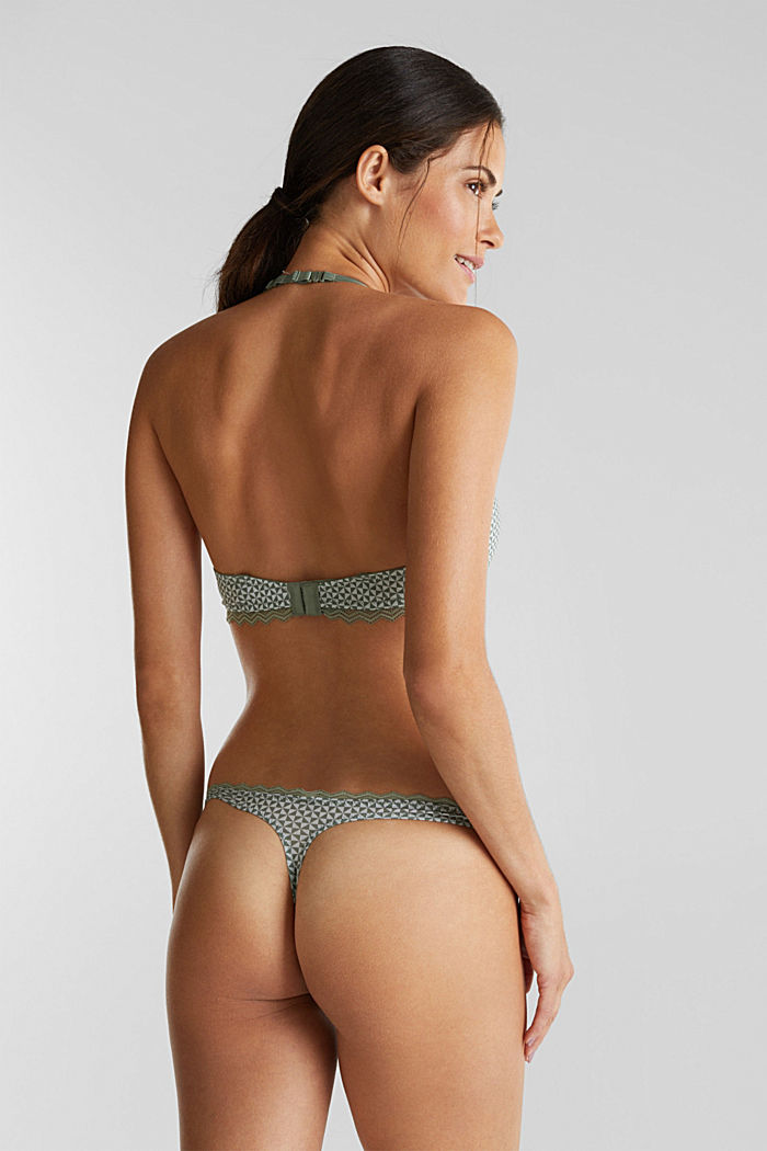 Hipster thong with lace, LIGHT KHAKI, detail image number 2