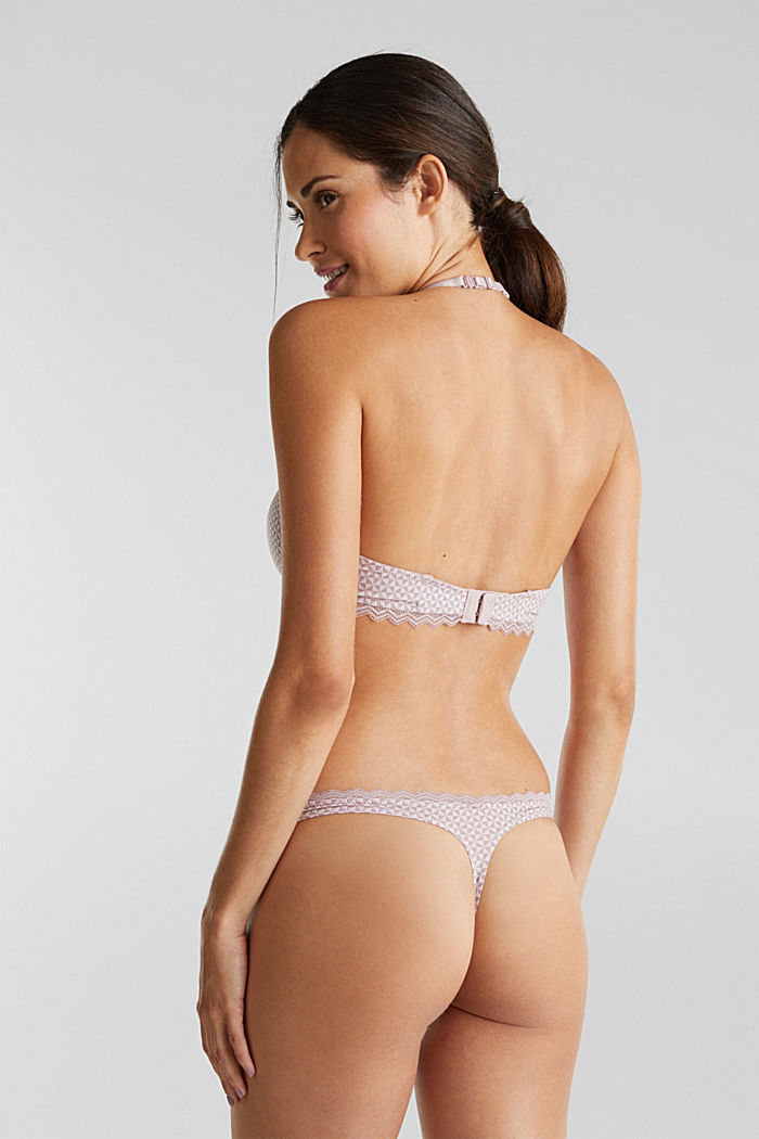 Hipster thong with lace, OLD PINK, detail image number 2