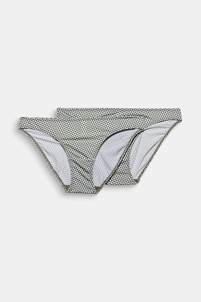 Double pack: lace-trimmed hipster briefs