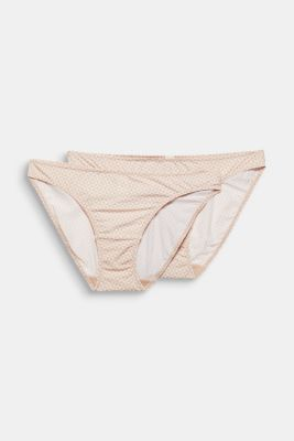 Double pack: lace-trimmed hipster briefs, NUDE, detail