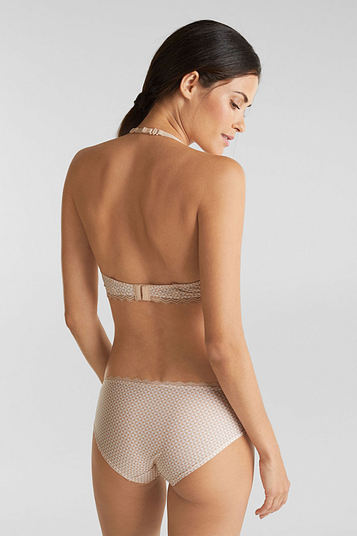 Hipster shorts with lace, NUDE, detail image number 2