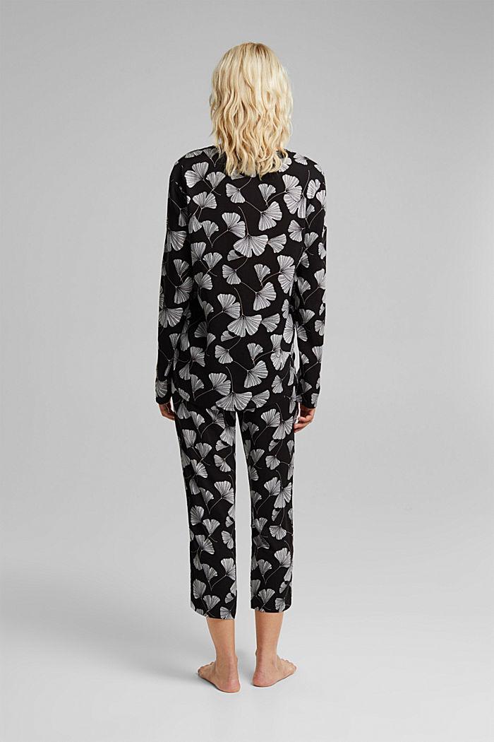 Pyjama aus LENZING™ ECOVERO™, BLACK, detail image number 1