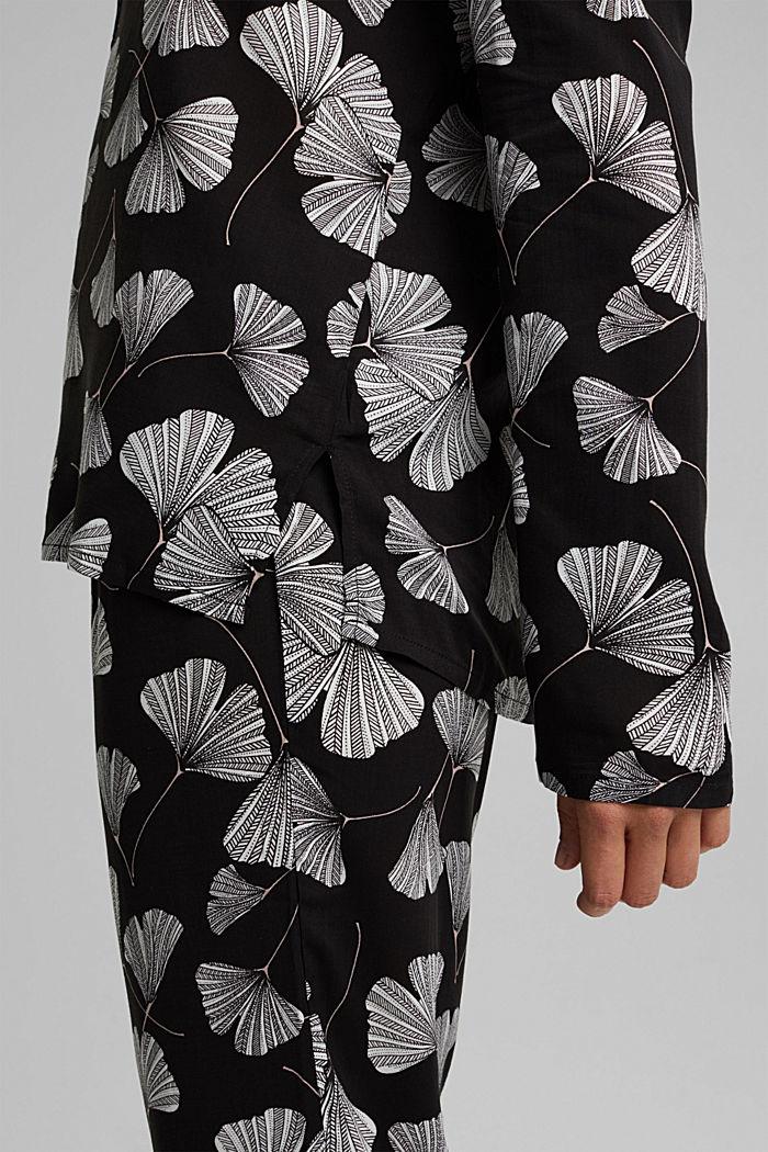 Pyjama aus LENZING™ ECOVERO™, BLACK, detail image number 2