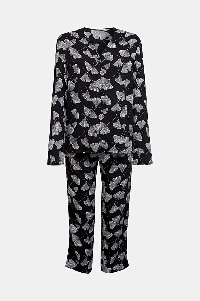 LENZING™ ECOVERO™ pyjamas, BLACK, overview