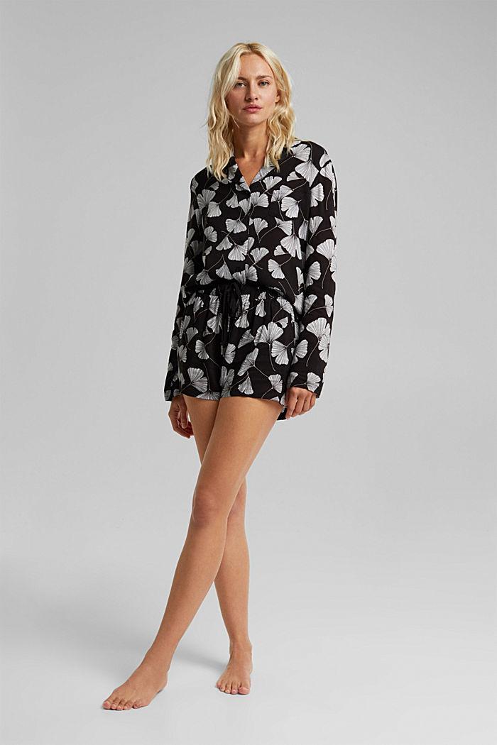 LENZING™ ECOVERO™ pyjamas, BLACK, detail image number 0